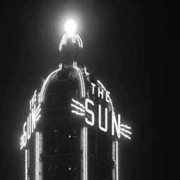 The Sun Tower in Vancouver, 1946. These neon lights are gone now, but they shouldn't be, because the design on this building is awesome. I just had to include this picture because the aesthetic is so perfect.