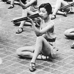 Up to and during World War 2, Japan had a home defense program that taught women fighting skills. One of the characters in the story, Maya, is part of a similar group.