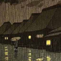 A more classical Japanese image of rain.